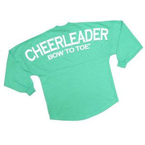 Spirit Football Jersey - CHEERLEADER Bow to Toe - Mint by Cheerleading Company