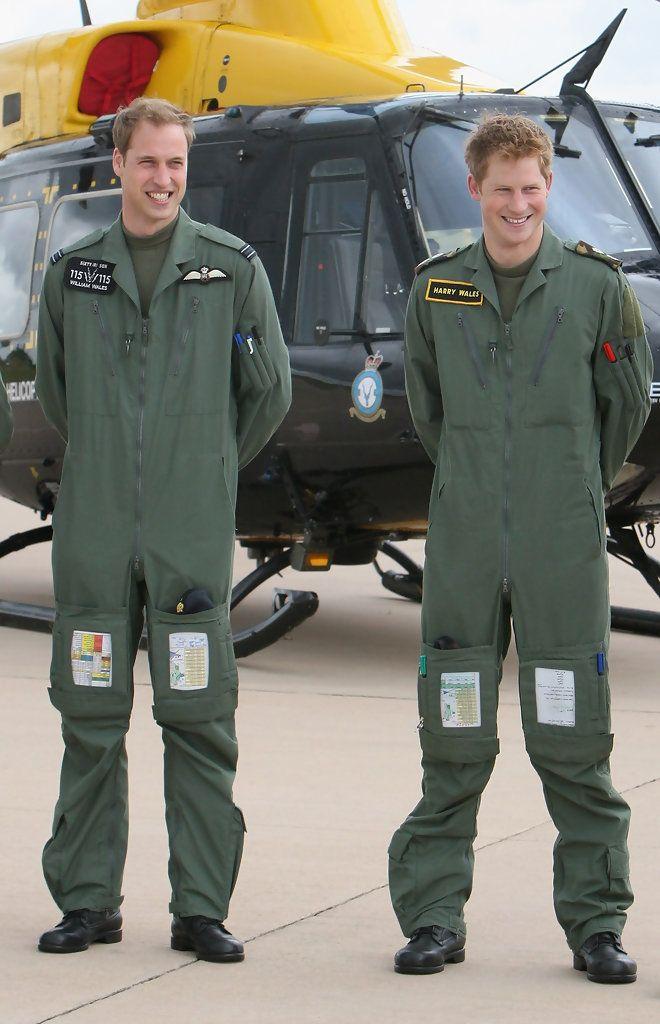 Prince Harry - Prince William and Prince Harry Visit RAF Shawbury