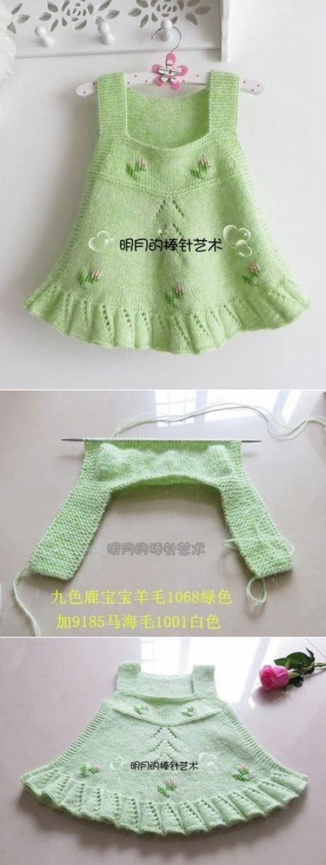 Вязаные сарафаны для девочки 2-3-х лет (Вязан… – Вязание для малышей