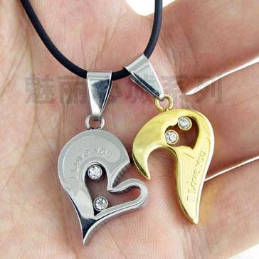 Gift For Valentine Titanium Couple Necklace