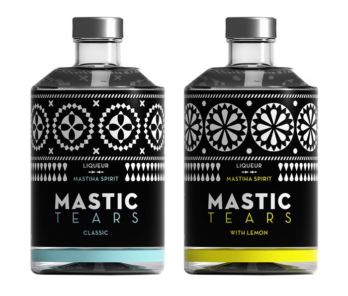 Mastic Tears Liqueur bottle packaging by Dolphins Communication Design