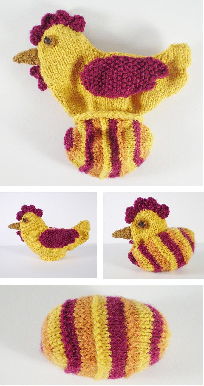 369 best animal knitting patterns images on pinterest knit free knitting pattern for chicken and egg which came first toy which came first bankloansurffo Image collections