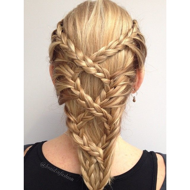 Cross over lace braids, I loved the effect this made