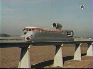 L'Aérotrain détient toujours le record du monde de vitesse sur coussin d'air avec une vitesse de 428 km/h