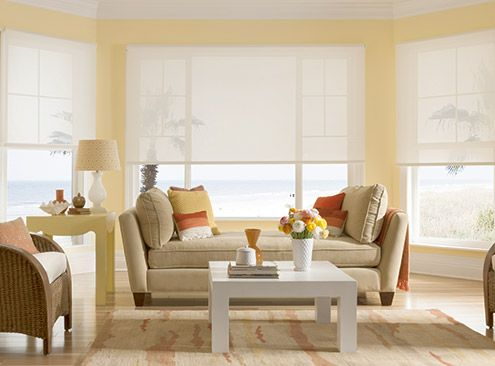 14 best images about solar window roller shades on pinterest for Bali motorized window treatments