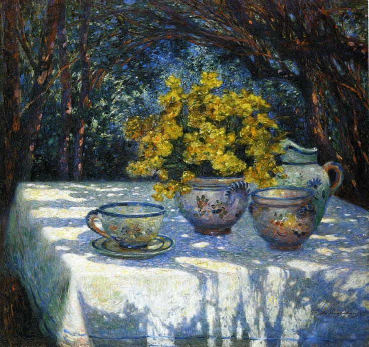 Table with Yellow Bouquet  Ferdinand du Puigaudeau
