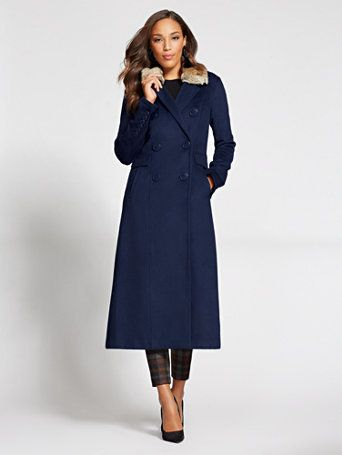New York & Co. Gabrielle Union Collection - Long Wool Coat