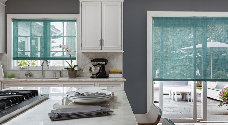 Sliding Glass Door Roller Shade Idea Kitchen Window
