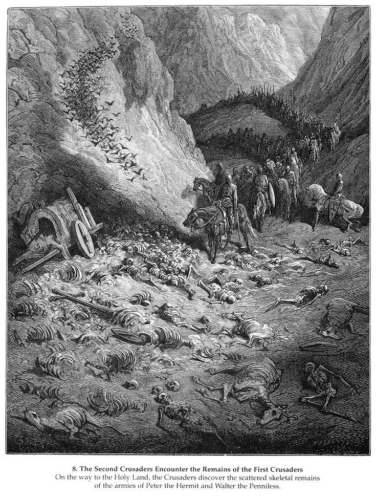 The Second Crusaders Encounter the Remains of the First Crusaders - Gustave Dore