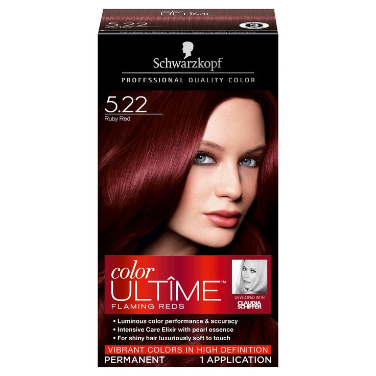 Schwarzkopf Color Ultime Flaming Reds Hair Color 5.22 Ruby Red - 2.03 fl oz