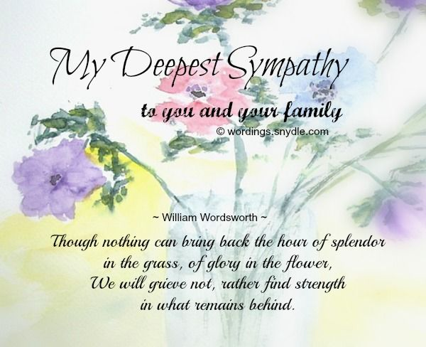 Loss Sympathy Quotes Mother Beautiful