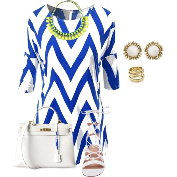 plus size sunday blues by kristie-payne on Polyvore featuring VC Signature, Hermès, Emi Jewellery, Kendra Scott and Alexis Bittar