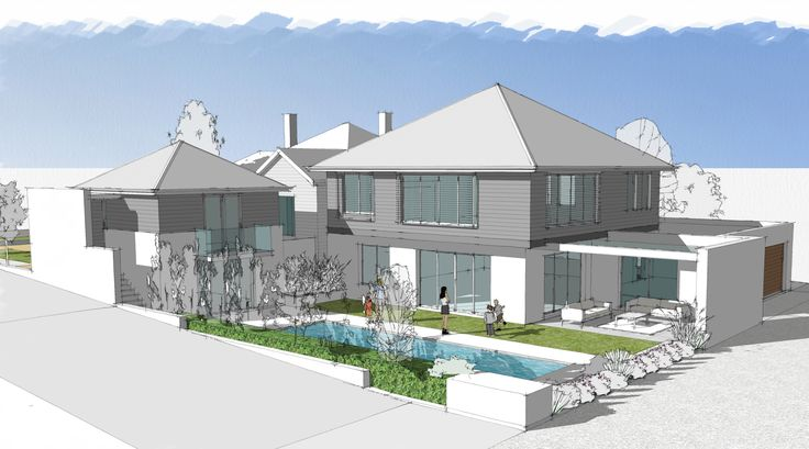 Additions to Cottesloe house.