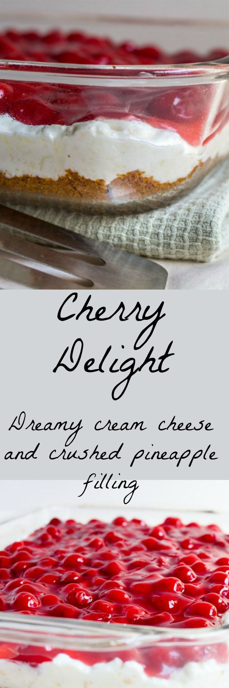 Cherry Delight: Quick, light and creamy pineapple and cherry dessert recipe.