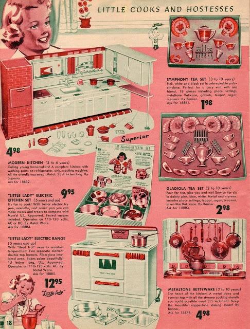 1950's Toy Catalog: Kitchen sets