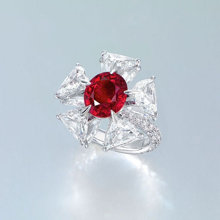 On our Lust List - #EdmondChin #diamond and #ruby ring  #luxury #jewelry #rubyring