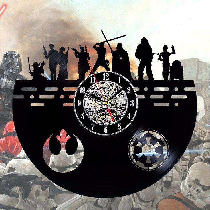 Star Wars Vintage Black Vinyl Wall Clock Dark Side Characters //Price: $55.99 & FREE Shipping //     #hashtag1