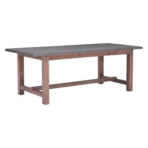 Brooklyn Distressed Gray Dining Table , EMFURN - 2