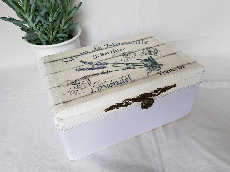 wooden box lavanda