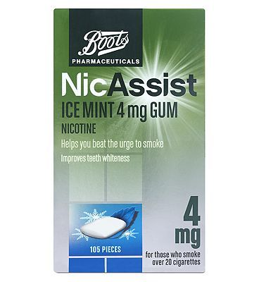 #Boots Pharmaceuticals NicAssist Ice Mint 4mg #48 Advantage card points. Helps you beat the urge to smoke. For those who smoke over 20 cigarettes.See details below, always read the label. Requires willpower.Suitable for: Adults and children over 12 years.Active ingredients; Nicotine FREE Delivery on orders over 45 GBP. (Barcode EAN=5045093997696)