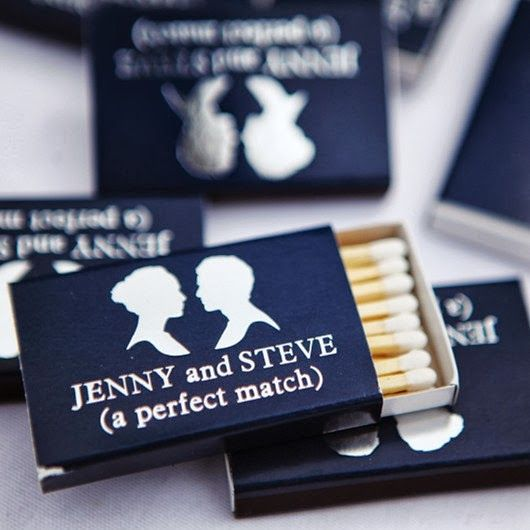 Navy Blue Wedding Ideas - Wedding Favors. @Sarah Barron what a coincidence that these are the names, eh??