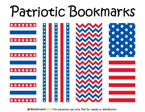 Free printable patriotic bookmarks download the pdf template at http bookmarkbeecom bookmark for Printable bookmarks pdf