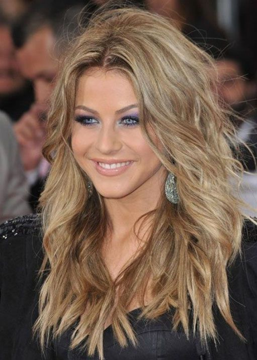 long shaggy hairstyles for round faces