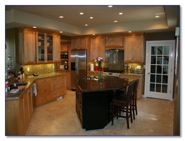 awesome two different countertops in kitchen photos - home design