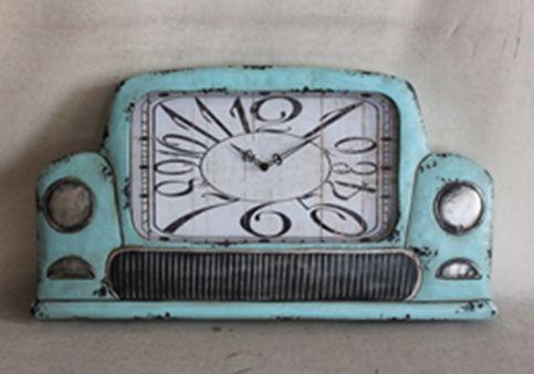 36014 Oversize Rustic Clock Car 69x40x5.5cm