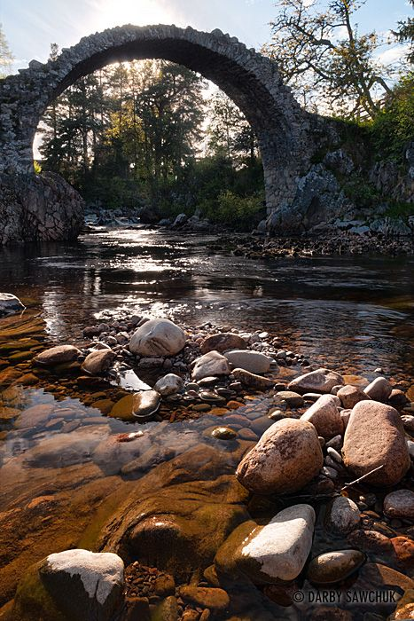 The oldest bridge in the Highlands of Scotland at Carrbridge www.facebook.com/loveswish