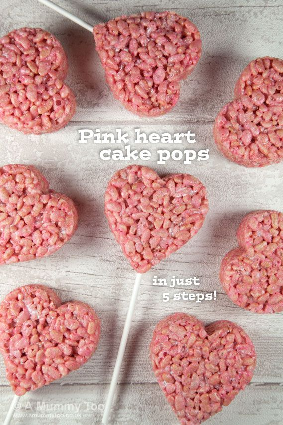 Super cute pink heart cake pops (recipe)