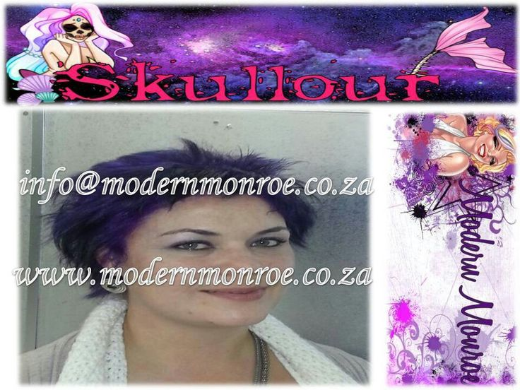 Purple Skullour hair dye. Skullour is a vegan friendly, cruelty free product that delivers long lasting beautiful results. For more info http://www.modernmonroe.co.za/index.php/online-shop/category/view/2