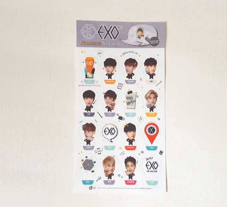 EXO K-POP STANDING STICKER SPECIAL LIMUTED ITEM EXO *NEW*(VER.3)