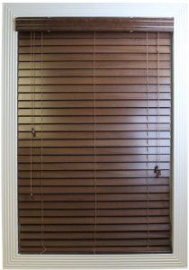 Calyx Interiors Real Wood Venetian Blind, 20-Inch Width by 60-Inch Height, Cherry