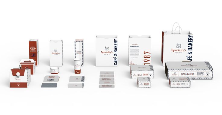 Specialty's Café and Bakery package design suite