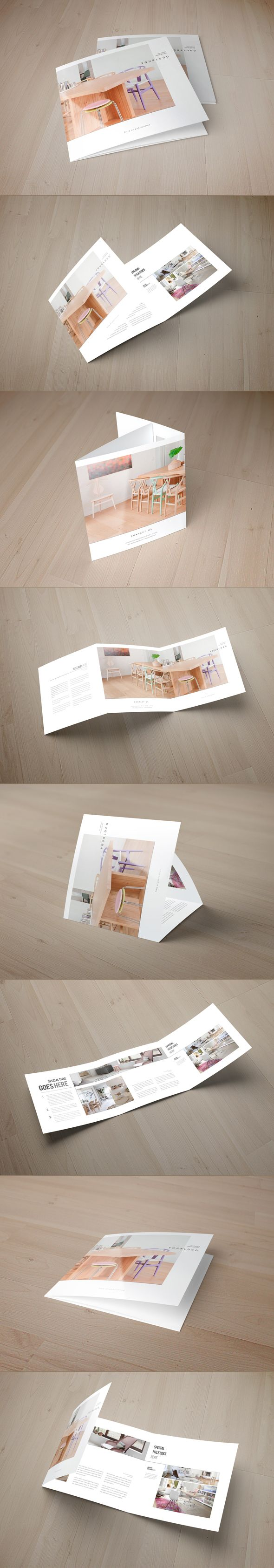 Square Minimal Interior Design Trifold on Behance