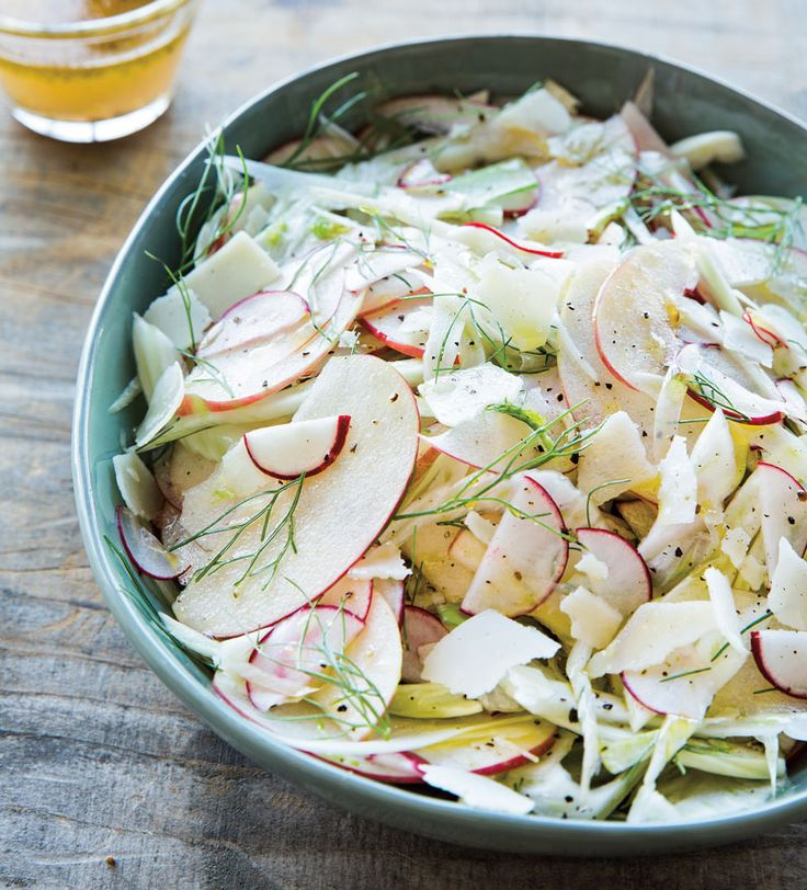 Refreshing and crisp, this citrusy salad tossed in a tangy grapefruit vinaigrette is perfect for serving at a potluck. The acid in the grapefruit and lemon will keep the apple from turning brown, s...
