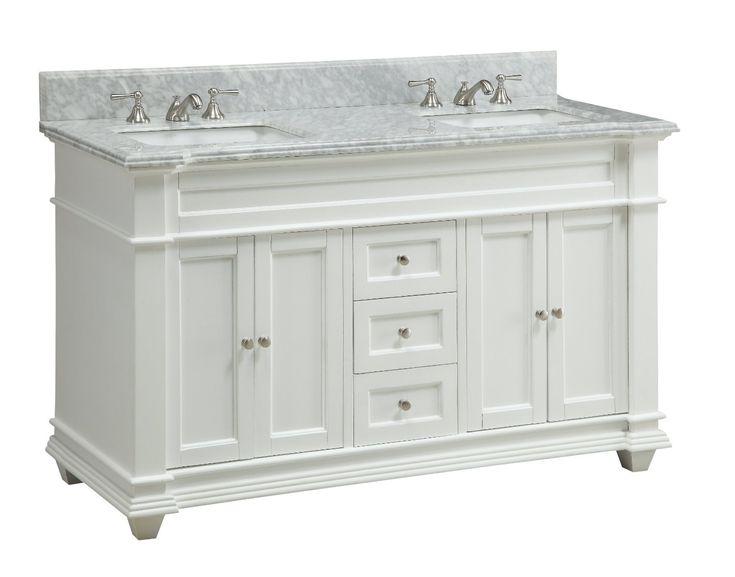 Italian Carrara Marble Double Sink Kendall Bathroom Sink Vanity U2014 Dimensions:  60 X 22 X Approx. A New Edition To A Tennant Brand Bathroom Vanity  Selection, ...