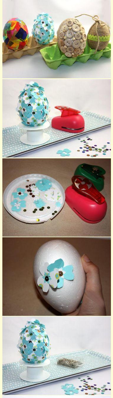 Tri postupy krok za krokom. Vyrobte si spolu s deťmi veľkonočné vajíčka:) http://artmama.sme.sk/tvorenie-z-papiera/fotopostup-na-netradicne-zdobenie-vajicok