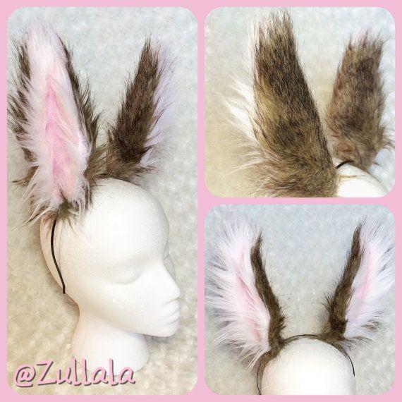 PETIT réaliste marron/noir/blanc oreilles de lapin par Zullala