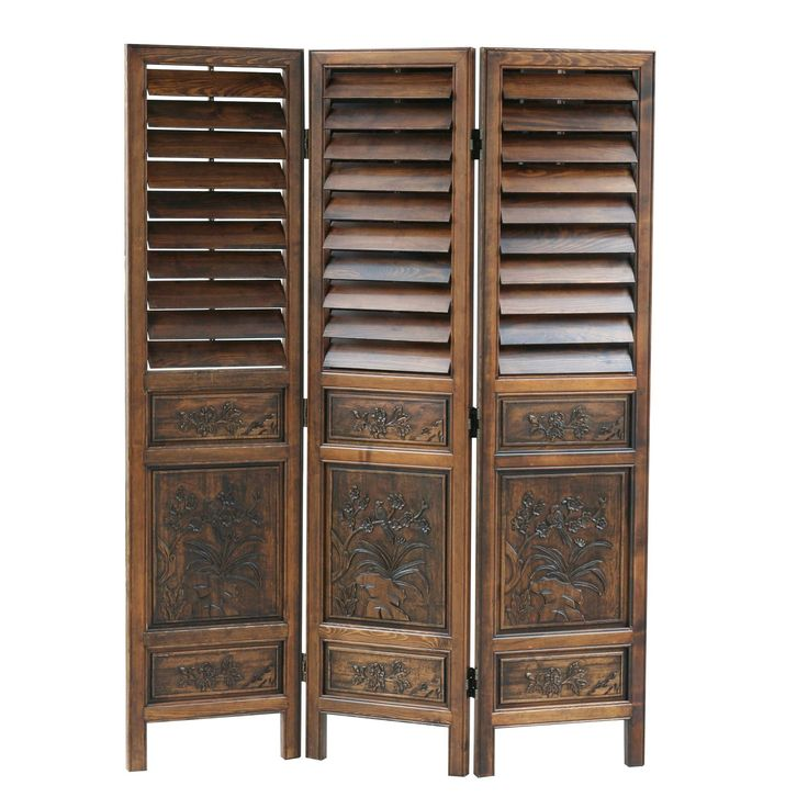 Sienna Room Divider with Adjustable Shutters | from hayneedle.com