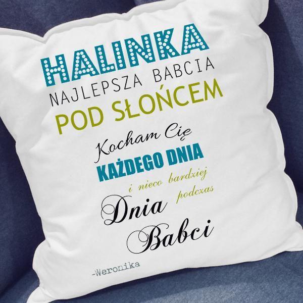 Poduszka dla Babci z jej imieniem! bit.ly/1mEtGCX