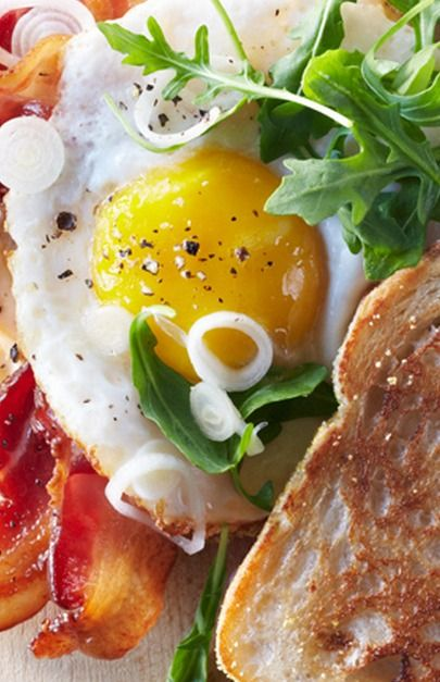 Bacon and Egg Sandwiches with Picked Spring Onions