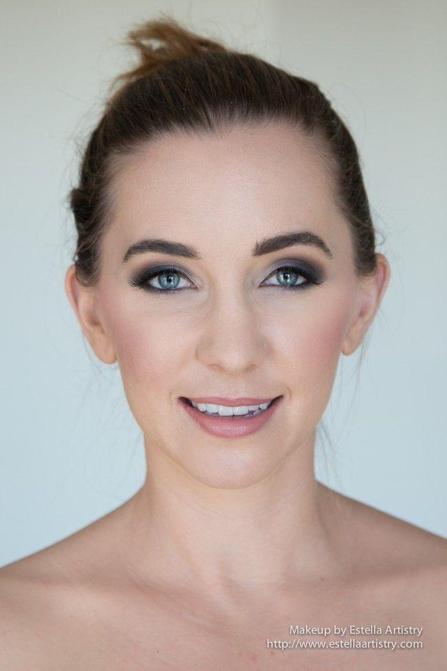 smokey blue eye, silver eyeshadow, mac cosmetics, ardell lashes ...