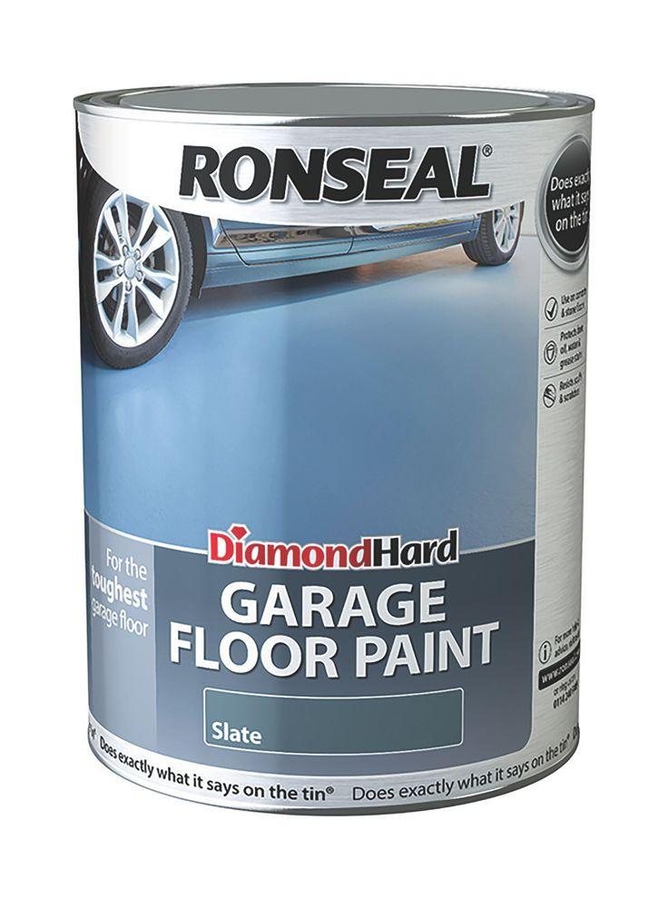 Ronseal Diamond Hard Garage Floor Paint Slate Satin Garage Floor Paint 5L | Departments | DIY at B&Q