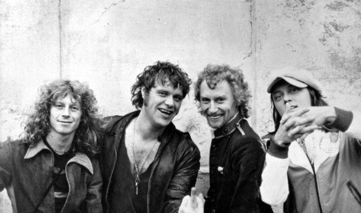 Gasolin 1976: Søren Berlev, Kim Larsen, Franz Beckerlee, Willi Jönsson.