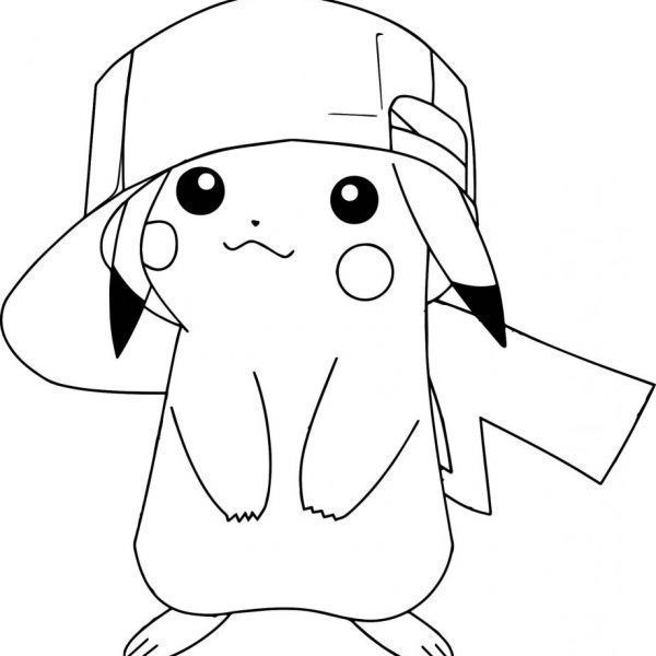 Pikachu Con Gorra Para Colorear Met Afbeeldingen Pikachu