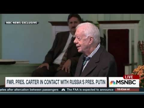 Fmr President Jimmy Carter Regularly Speaks with Putin About Syria - YouTube