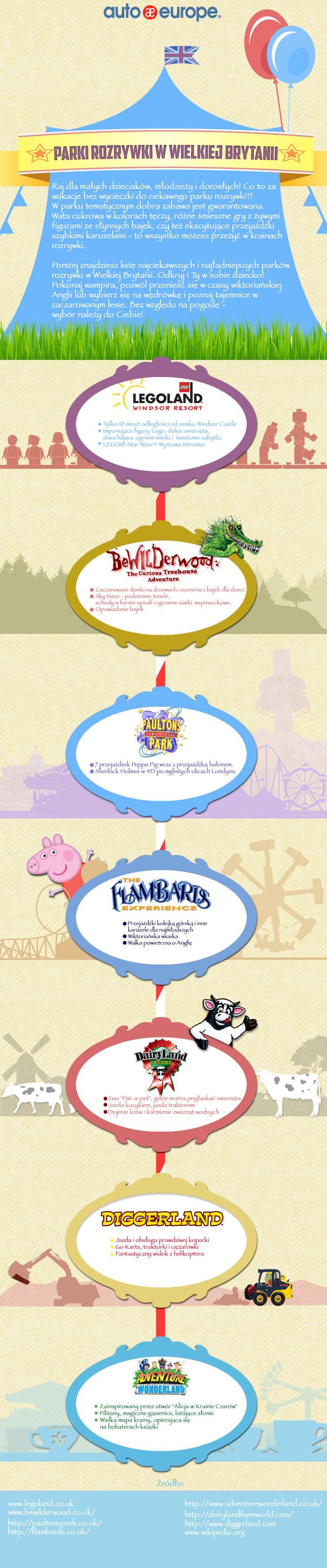 Infografika: Parki rozrywki w Wielkiej Brytanii  - Kliknij tu i zobacz nasze infografiki: http://www.autoeurope.pl/go/infografiki/