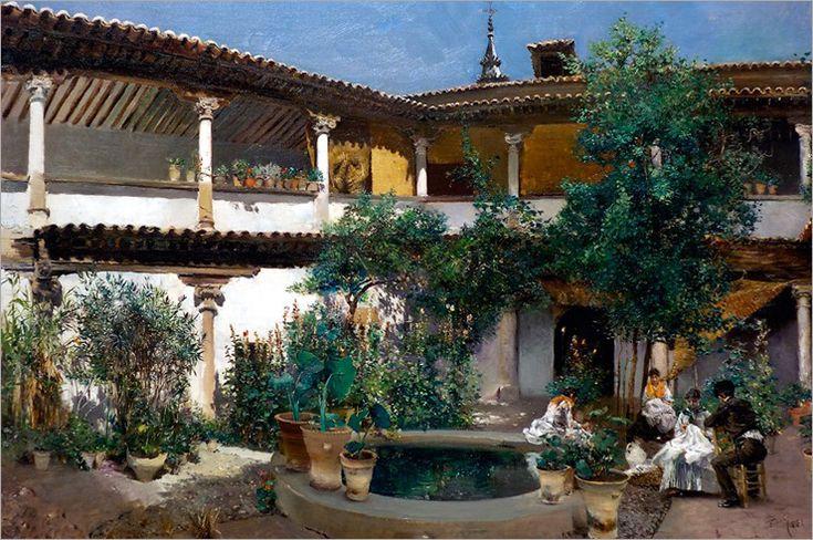 Robert Blum - Spanish Courtyard 1883